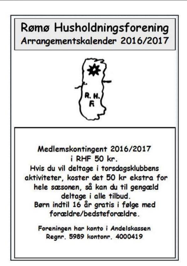 Udklip af RHF 2016-17 aktivitetsprogram